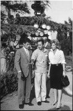 Alain Delon, Michelangelo Antonioni, Monica Vitti