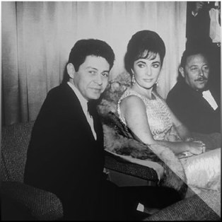 Liz Taylor, Eddie Fisher, Tennessee Williams